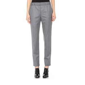 Vtg UO grey pinstriped Highwaisted Pants 4